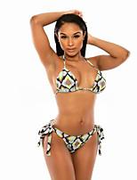 Women's Halter Bikinis Wireless Polyester Multi-color