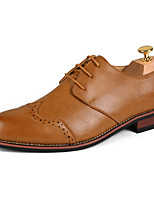 Men's Shoes Party & Evening Faux Leather Oxfords Black/Yellow/Burgundy