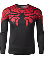 Men's Casual Print Long Sleeve Regular T-Shirt