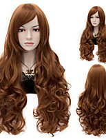 Sexy Women Anastasia Rich Brown Long Wave Wig