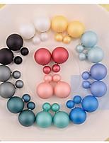 Women's Silver Stud Earrings With Pearl