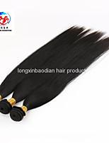 3 paquetes de precio de fábrica recto sedoso remy indio trama del pelo humano puede teñido y puede cambiar el estilo