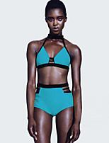 Women's Strappy Strings T-Back High Waist Bikini Swimsuit