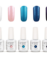 Gelpolish Nail Art Soak Off UV Nail Gel Polish Color Gel Manicure Kit 5 Colors Set S107