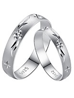Couples' Sterling Silver Ring With Non Stone