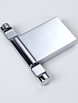 Contemporary Bathroom Zinc Material Chrome Finish Square Robe Hooks