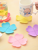 30pcs Wholesale Silicone Placemat Coaster Coffee Pads Cup Mats Random Color