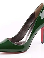 Women's Shoes Patent Leather Stiletto Heel Heels/Pointed Toe Pumps/Heels Office & Career/Party & Evening/Dress Green