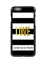 Personalized Gift Love Design Aluminum Hard Case for iPhone 6