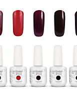 Gelpolish Nail Art Soak Off UV Nail Gel Polish Color Gel Manicure Kit 5 Colors Set S105
