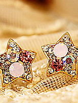 Women's Colorful Cute Pentagram Diamond Earrings