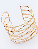 Women's European Style Fashion Metal Multilayer Alloy Cuff Bracelet