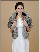 Women Faux Fur Shawls & Wraps (Lined)