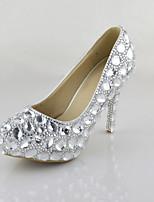 Women's Shoes Stiletto Heel Heels crystals Pumps/Heels Wedding/Party & Evening/Dress White