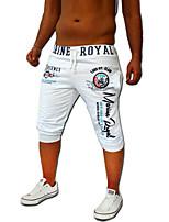 Men's Casual/Formal/Sport/Sexy Print Sweatpants Pants (Cotton/Elastic)