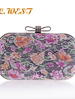 L.WEST® Women's Delicate Flower Bow Lace Party/Evening Bags