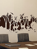 Wall Stickers Wall Decals, Modern In a corner of the forest PVC Wall Stickers