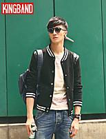 Men's Casual/Work/Sport Pure Regular Jacket (Cotton Blend) KB6D31