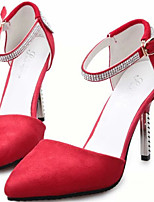 Women's Shoes Stiletto Heel Pointed Toe Pumps/ Dress Black/Red