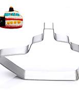 corte forma de barco cortadores de galletas de frutas moldes de vehículos de acero inoxidable