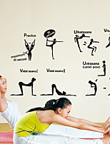 Wall Stickers Wall Decals, Modern Fitness Yoga girl PVC Wall Stickers