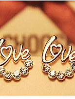 Fashion LOVE Diamond Stud Earrings