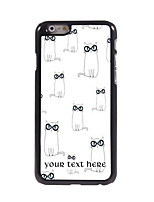 Personalized Gift Lovely Cats Design Aluminum Hard Case for iPhone 6