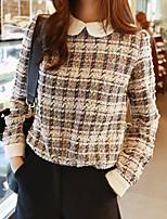 Women's Multi-color Shirt , Peter Pan Collar Long Sleeve