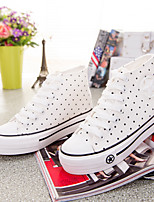 Women's Shoes Canvas Flat Heel Creepers/Round Toe Fashion Sneakers Office & Career/Casual White