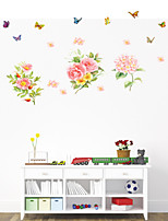 Wall Stickers Wall Decals Style Beautiful Peony Flower PVC Wall Stickers