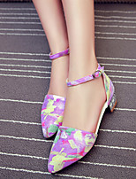 Women's Shoes  Chunky Heel Heels/Pointed Toe/Closed Toe Pumps/Heels Outdoor/Office & Career/Casual Multi-color