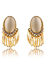 Vintage/Cute/Party/Work/Casual Gold Plated/Alloy Drop Earrings