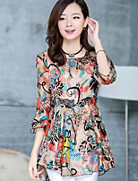 Women's Multi-color Blouse ¾ Sleeve