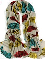 Women's Fashion 100% Wool Fish Printed Scarf