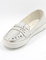 Girls' Shoes Casual Closed Toe Faux Leather Flats Silver