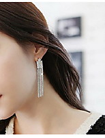 Elegant And Generous Korean Version Of A Long Tassel Earrings Full Of Diamond Earrings