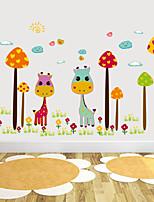 pegatinas de pared de estilo calcomanías de pared pegatinas de pared de color jirafa pvc