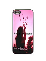 Personalized Gift Dream It and Do It Design Aluminum Hard Case for iPhone 5/5S