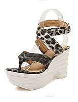 Women's Shoes Faux Leather Wedge Heel Platform Slingback Sandals Party More Colors available