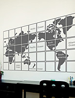 Wall Stickers Wall Decals, Modern The map of the world PVC Wall Stickers