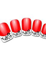 Lovely Flowers Butterfly Diamond Cartoon Finger Nail Stickers