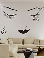 Wall Stickers Wall Decals, Classic Black Long Eyelashes Beauty PVC Wall Stickers