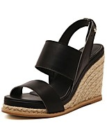Women's Shoes Leather Wedge Heel Platform Slingback Sandals Party More Colors available