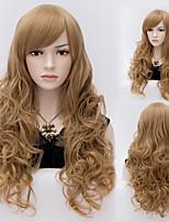 moda capelli stile europeo marrone parrucche sintetiche di alta qualità