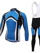 WEST BIKING® Breathable Men's MTB Clothing Suit Wicking Curved Blue Cycling Bib Long Suit Long Sleeves Bib Pants