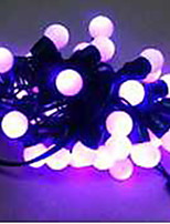 6W 5 Meter Outer Diameter 50pcs Bulb LED Modeling String Lights  Small Ball Lights, Purple Color