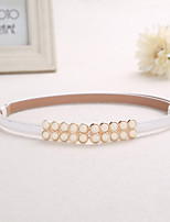 Women Exquisite Fashion Alloy Agio Belt Party/Casual Leather Faux Leather Skinny Belt