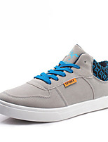 Men's Shoes Outdoor/Athletic Leather Fashion Sneakers Black/Blue/Gray