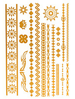4PCS Flash Tattoo Gold Tattoo Metallic Tattoo Taty Tatouage Temporary Tattoo Sticker Metal Tatoo Fake Tatto