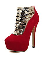 Women's Shoes Synthetic/ Stiletto Heel Heels Pumps/Heels Wedding/Party & Evening/Casual Black/Red